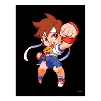 Pocket Fighter Sakura 2 Postcard