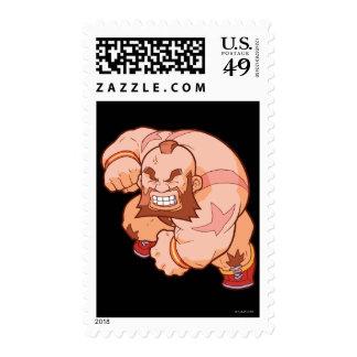 Pocket Fighter Zangief 2 Postage Stamps