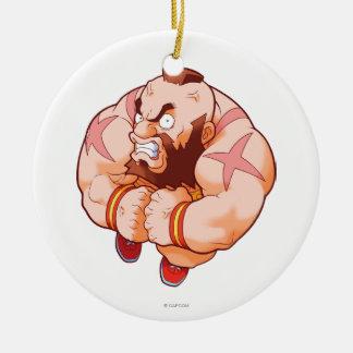 Pocket Fighter Zangief Christmas Ornament