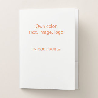 Pocket Folders uni White - Own Color