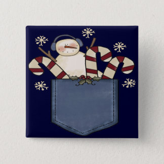 Pocket Full of Candy Canes Pinback Button