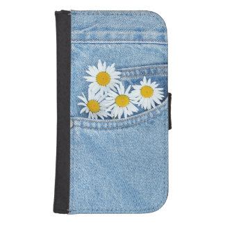 Pocket full of daisies phone wallet cases