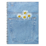 Pocket full of daisies spiral note books