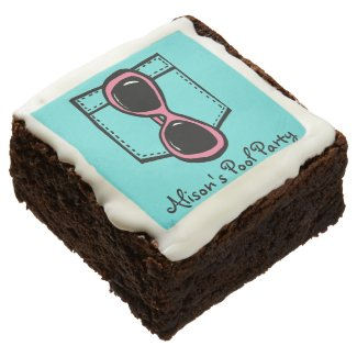 Pocket Full of Sunglasses Customizable Brownies Square Brownie