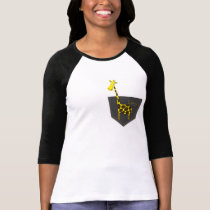 Pocket Giraffe 3/4 sleeve Raglan T-shirt