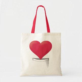 Pocket Heart Tote Bag