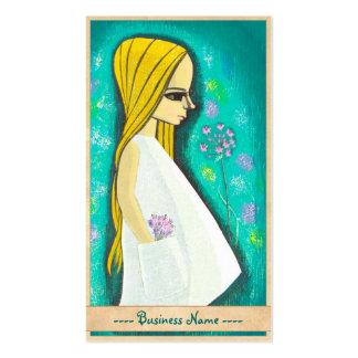 Pocket Ikeda Shuzo cute kawaii japanese girl art Double-Sided Standard Business Cards (Pack Of 100)