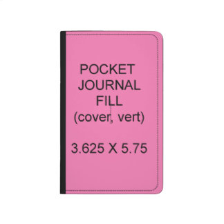 Pocket Journal Fill Cover Vertical Spine Template