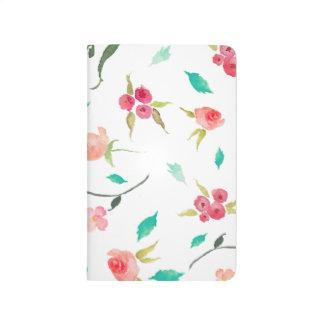 Pocket Journal Watercolor Flower Fields