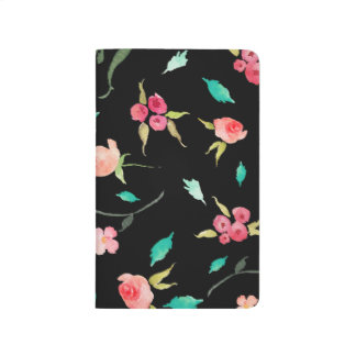 Pocket Journal Watercolor Flower Fields, Black