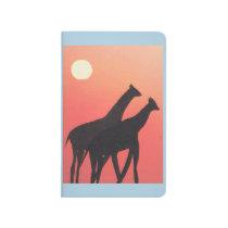 Pocket Journal with Giraffe Design