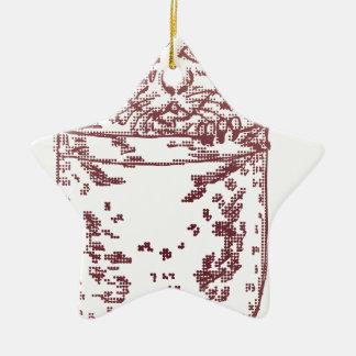 Pocket Kitten 2 Double-Sided Star Ceramic Christmas Ornament