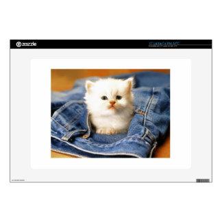 """Pocket Kitten Decal For 15"""" Laptop"""