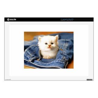 """Pocket Kitten Decal For 17"""" Laptop"""