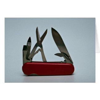 Pocket knife card