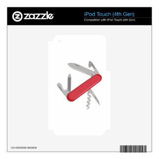 Pocket Knife iPod Touch 4G Skins
