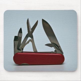 Pocket knife mouse pad
