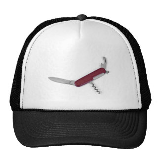 pocket knife trucker hat