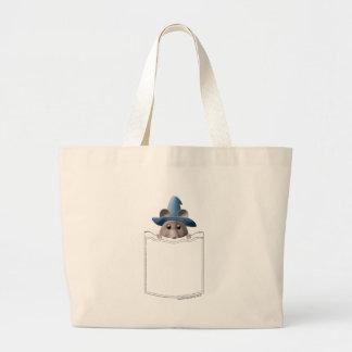 Pocket Mouse Large Tote Bag