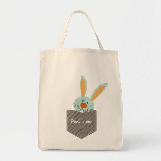 POCKET PALS :: Bunny Rabbit 2 Tote Bag