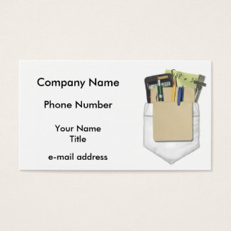 Pocket Protector Business Card