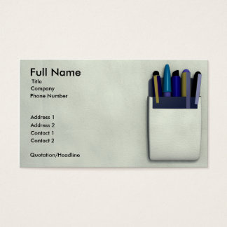 Pocket Protector Business Card Template