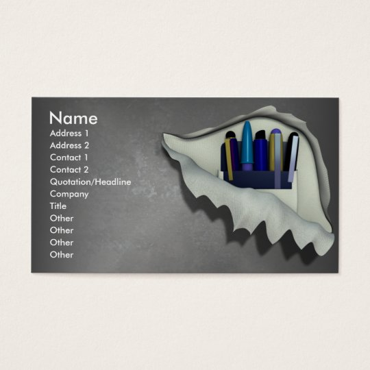 Pocket Protector Business Cards