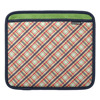 Pocket Protector Plaid Sleeve For iPads