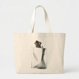Pocket Rat (face) Large Tote Bag