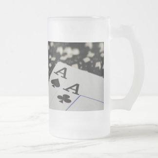 Pocket Rockets Frosted Glass Beer Mug