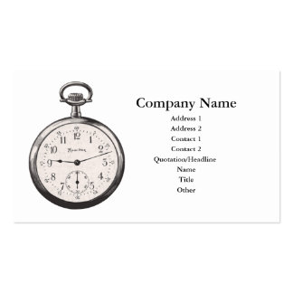 Pocket Watch Business Card