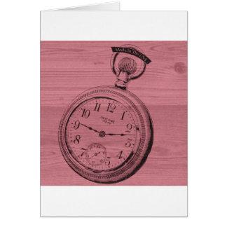 pocket watch card