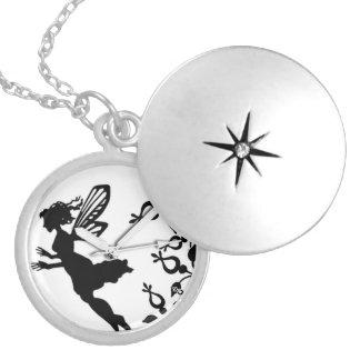 pocket watch elegant Vintage tinkerbell Paris Round Locket Necklace