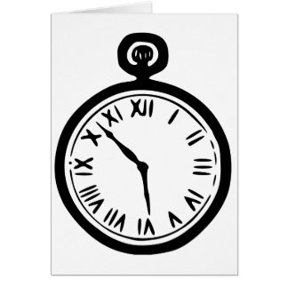Pocket Watch Note Cards