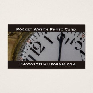 Pocket Watch Photo Business Card