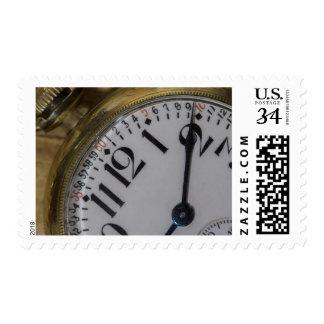 Pocket Watch Photo Postage Stamp