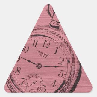 pocket watch triangle sticker