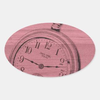 pocket watch oval sticker