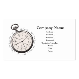 Pocket Watch Tick Tock Business Card