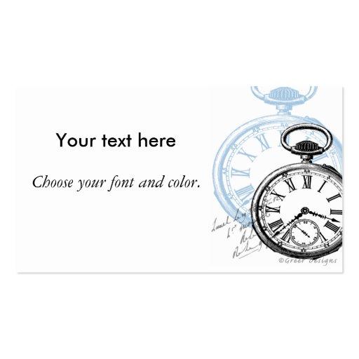 Pocket Watch Timepiece Business Cards
