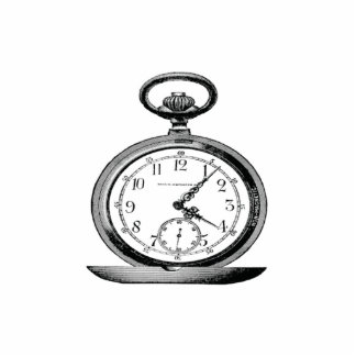 Pocket Watch Vintage Cutout