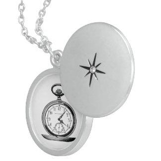 Pocket Watch Vintage Newspaper Ad Round Locket Necklace