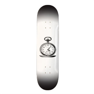 Pocket Watch Vintage Newspaper Ad Skateboard Deck