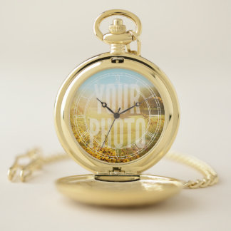 Pocket Watch White Roman Numerals Photo Template