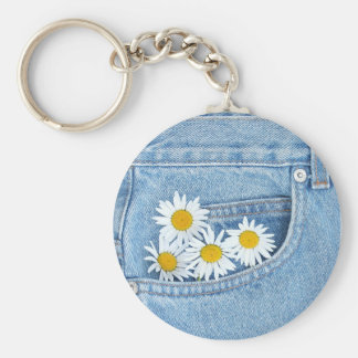 Pocketful of daisies basic round button keychain
