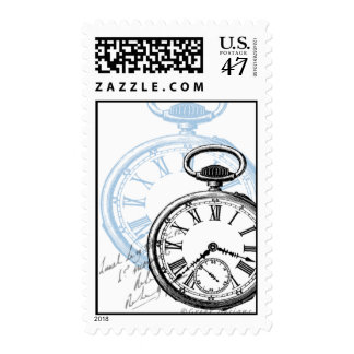 Pocketwatch Time Timepiece Clock Postage Stamps