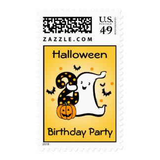 Poco 2do cumpleaños del fantasma timbre postal