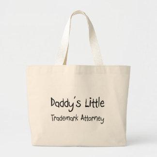 Poco abogado de la marca registrada del papá bolsa de mano