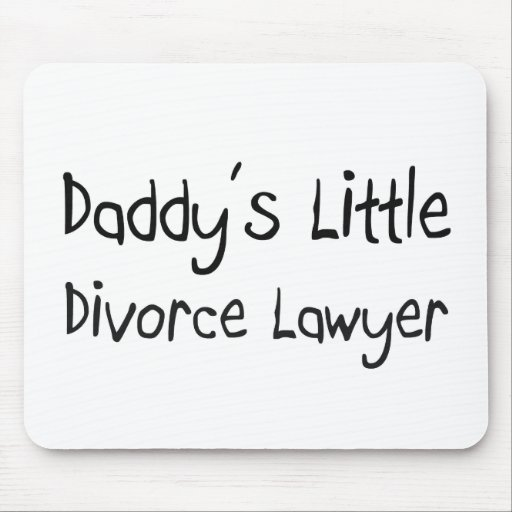 Poco abogado del divorcio del papá alfombrilla de ratón