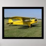 Poco aeroplano amarillo impresiones
